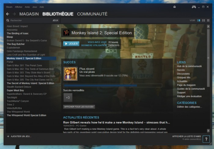Steam sur Windows 10: sans concurrent... pour l'instant