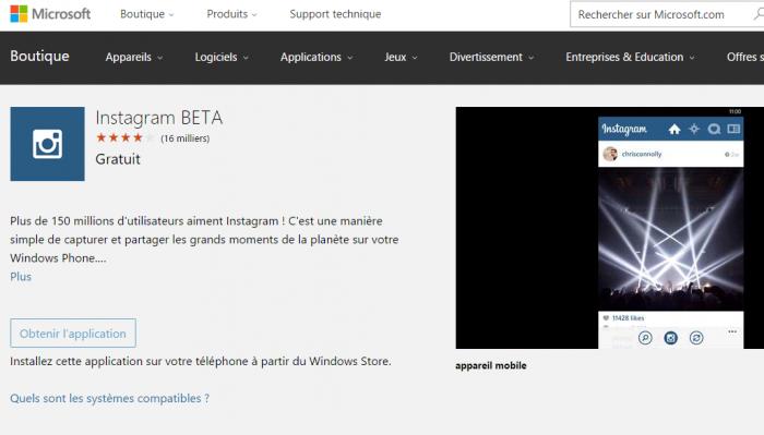 Instagram est toujours en Beta alors que l'application est sortie en 2013!