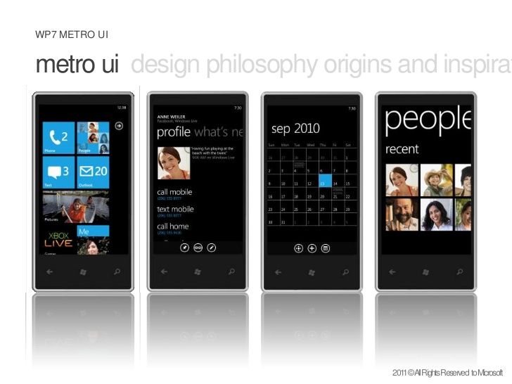 L'interface de Windows Phone 7: une jolie cohérence