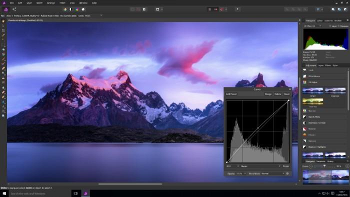 Le logiciel Affinity Photo fonctionne déjà sur Windows