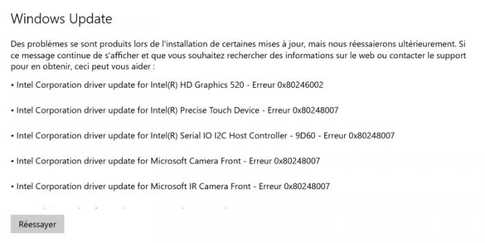 Windows Update peut parfois être capricieux et refuser l'installation de certaines mises à jour