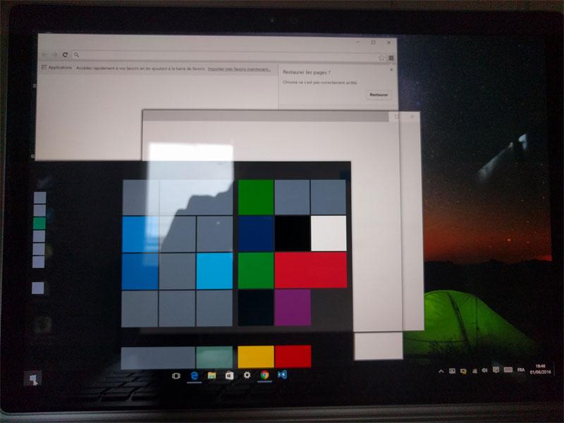 En sortant de veille, le Surface Book affichait des fenêtres vides et était inutilisable
