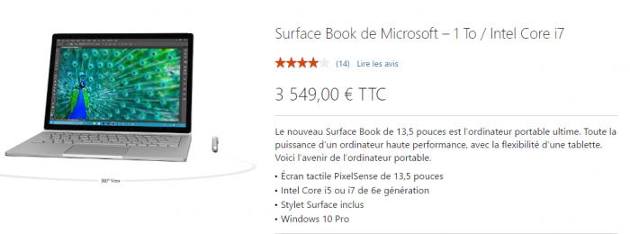 Le Surface Book est maintenant disponible avec 1To de stockage