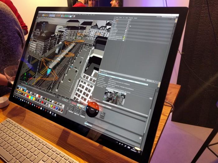 Le Surface Studio reste à l'aise en 3D