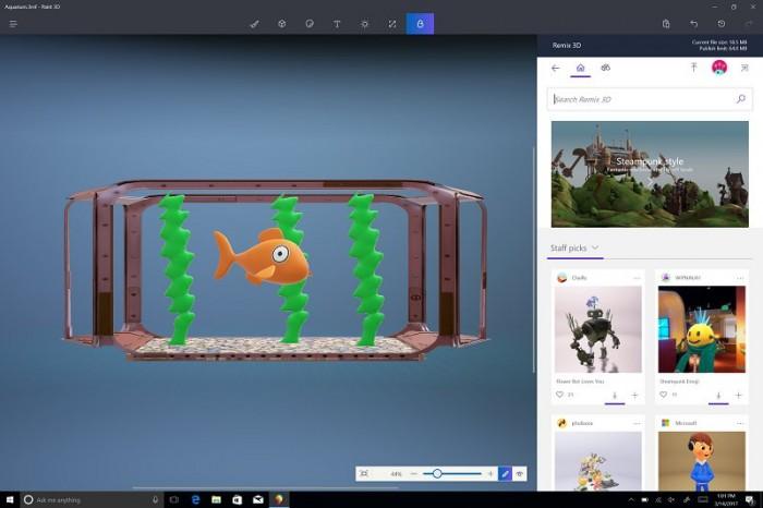 La Creators Update mise sur la 3D
