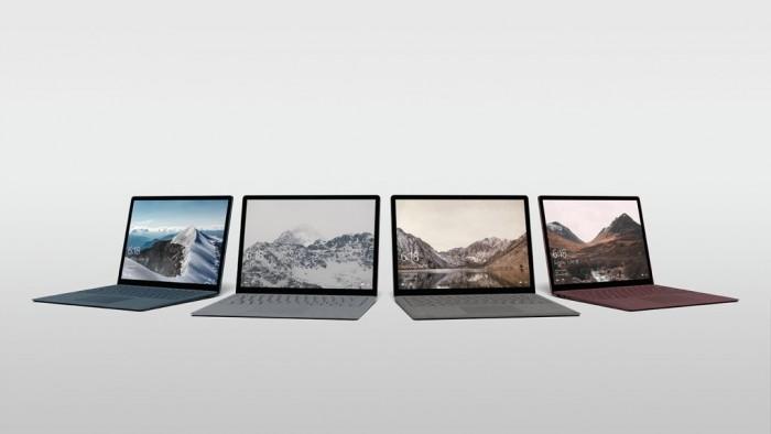 Le Surface Laptop sera disponible en 4 coloris différents