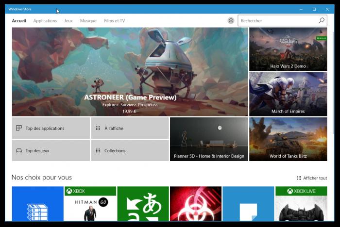 Le Windows Store a bien évolué depuis 2012
