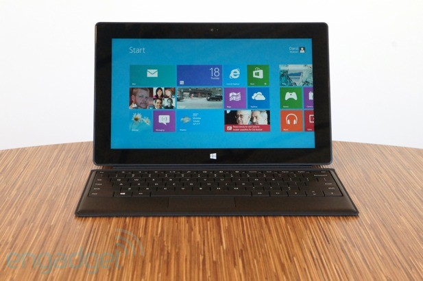 La Surface RT fonctionnait avec Windows RT - Source: Engadget