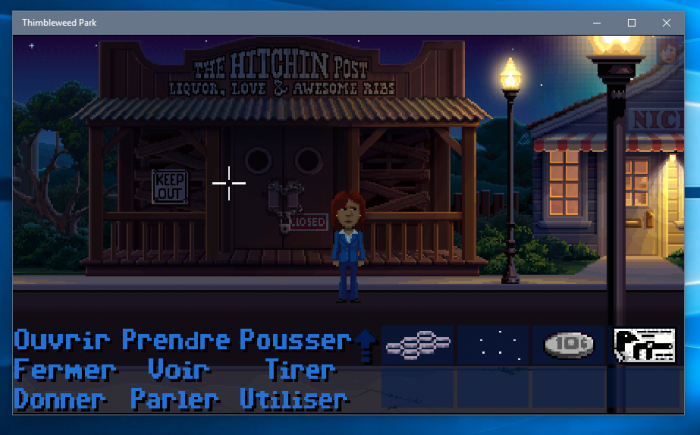 Thimbleweed park sur Windows 10
