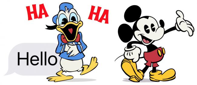 Youhou! Envoyez des stickers Diskney avec iMessages, super! ;)