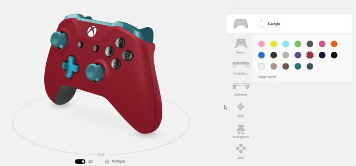 Personnalisez votre manette en ligne sur le Xbox Design Lab