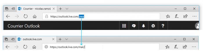 """Modifier """"owa/"""" en """"mail/"""""""
